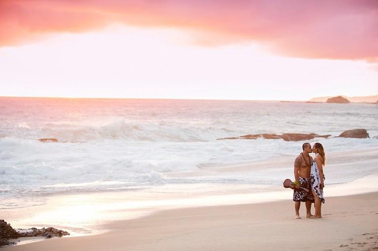 Beach Engagement Photographer based in Inland Empire California Sunset Ukulele Hawaiian Kiss_0001