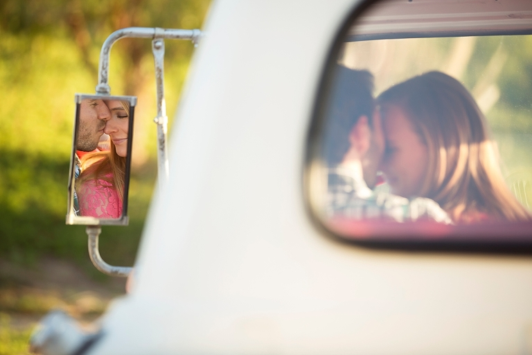Temecula Engagement Session Truck mirror reflection nose kiss based in Inland Empire California_0016