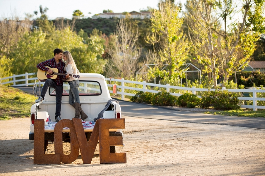 Temecula Engagement Session Truck LOVE sign based in Inland Empire California_0022