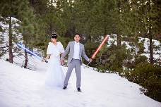Big Bear Snow Bridal Session