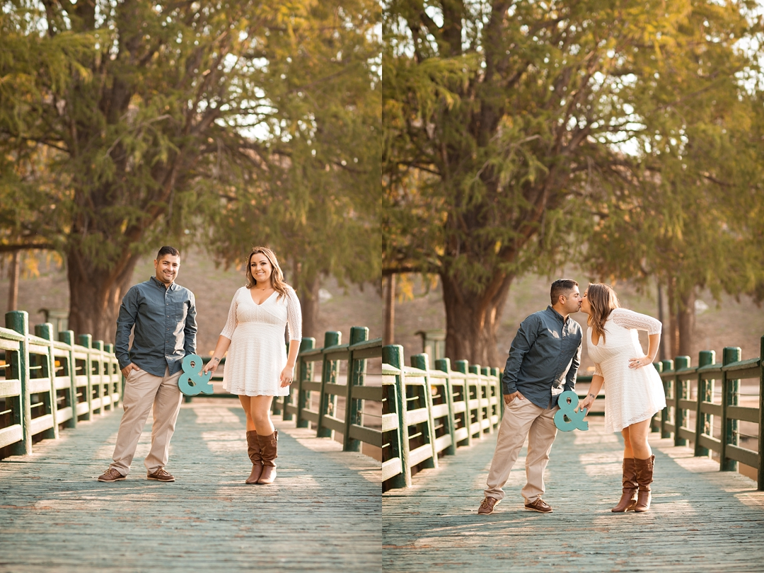 Megan Steve Fairmount Park Engagement Session Kirstin Burrows Photography Southern California Wedding Photographer